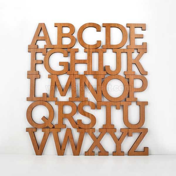 Bamboo Alphabet Letter Modern Typography Nursery Wall Decor ZWO3360